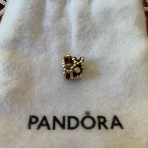 Diamond,gold and silver Pandora charm
